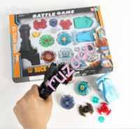 Wholesale 10 Brand New Super Top Metal Beyblade Spinning Tops Toys With Four Beyblade One Handle