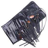 Wholesale Professional Makeup Cosmetic Brushes Tools Goat Hair Black Wood Handle Set Kits