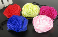 Wholesale rose bags Rescue our Earths Eco friendly Foldable Reusable Folding Rose Shopping Bag fashion bag fr