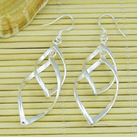 Wholesale 925 silver drop fashion wedding earrings woman boutique jewelry costume jewelry stock mix