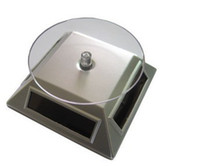 Wholesale Solar Powered Rotating Rotary Turntable Display Stand Turn Table Plate Platform For Jewelry