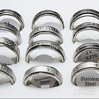 Wholesale Rotate layer Lucky Mens Stainless Steel Rings J86