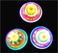 Wholesale 24pcs New Arrival Colorful LED Gyro Flash Gyro Inertial Friction Tops Super Lighting Spinning tops