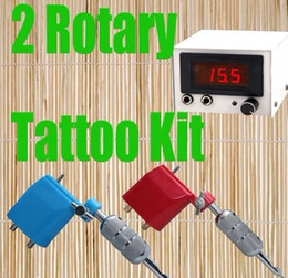Wholesale Tattoo Supply Rotary Tattoo Motor Machine Guns amp LED Power Supply With Fitted Plug Tattoo Gun Kits