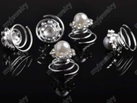 Wholesale 120p Bridal Wedding Crystal Fashion Shinning Clear Hair Pin Silver P Tone Hair Bridal Jewelry hp07