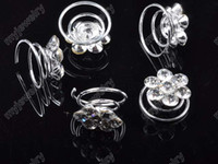 Wholesale Bridal Jewelry p Bridal Wedding Crystal Hair Silver P Tone Fashion Shinning Clear Hair Pin hp08