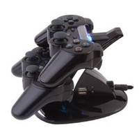 Wholesale 2x Wireless Bluetooth Controller x Dual Stand Charger for Playstation3