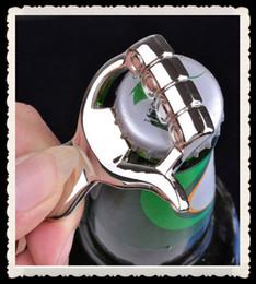 Wholesale 30pcs Men Alloy keychains bottle opener key chain Valentines day ideas custom made your logo