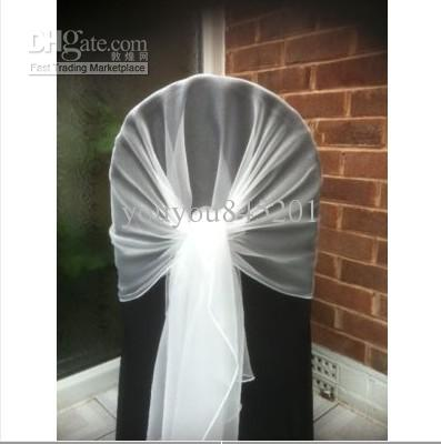 different ways to tie organza chair sashes 3