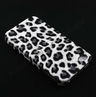 For Christmas for iphone 4 4S very good 200pcs Brand New Leopard printed hard case pu leather skin coated covers for iphone 4 4S