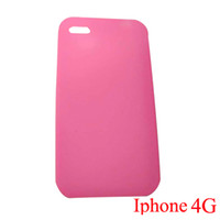 Wholesale Pink Silicone Case Cover Skin for Apple Iphone G OS