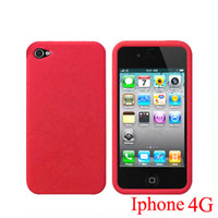 Wholesale Red Silicone Case Skin Cover For Apple Iphone G OS