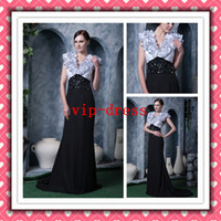 Popular Sexy Romantic Mermiad White And Black Chiffon Evenin...