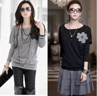 Wholesale New Women s Fashion Small Bats sleeve T short Mini Party Club Cocktail Ladies