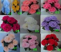 silk flower heads - 400pcs cm Flower head Hot Hot Simulation Artificial Silk Carnation Flower Heads Mother s Day TEN Colours