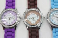 Wholesale 200 Newest Arrival Silicone Watch Lady watch Jelly Watch women s Watch Rhinestone Around