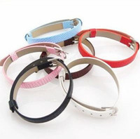 Wholesale Imitation Leather Belt Charms Bracelets for Slide Letter MM JF9004 Assorted Color