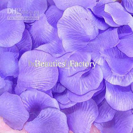 1500 Pcs Purple Silk Rose Petals Wedding Favors Party Petal Decoration Hot