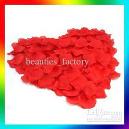2000 pcs Red silk rose petal wedding favors party petals decoration Hot