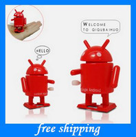 Wholesale cute Google Android links toy robots clockwork toys kids birthday gifts EMS