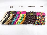 Wholesale Bohemian style wooden bead bracelets ten rows four colors wooden bead bracelet new