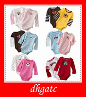 Wholesale U S long sleeved Romper baby pajamas baby PJ S Hundreds of designs