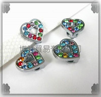 Wholesale 50pcs mm Heart Slide Charms Fit Pet Dog Cat Collar Phone strips