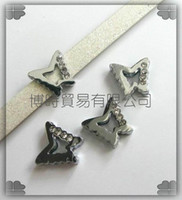 Wholesale 50pcs mm Butterfly Slide Charms Fit Pet Dog Cat Collar Phone strips