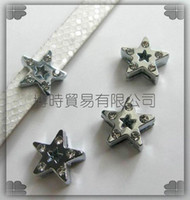 Wholesale 50pcs mm Star Slide Charms Fit Pet Dog Cat Collar Phone strips