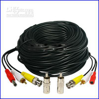 Wholesale hot Security Camera CCTV Audio Video Power Cables with Free BNC RCA Adapters