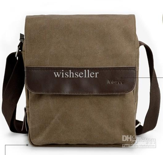 Fashion Bag Men Messenger Bag Canvas Fashion Bag Handbag Coffee ...