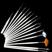Wholesale One Set of Nail Art Tip Brushes Pen Dot Pen Flat Brush Painting Dotting Tool