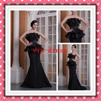 Fashion Sexy Hot Sale Black Mermaid Beaded Evening Dresses P...