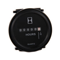 Wholesale Sample V Hour Tacho Meter Boat Motorbike Instruments Gauge Round LCD
