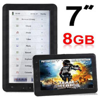 Wholesale 7inch Ebook reader GB Mdeia player WITH Voice recorder touch scrren E book reader