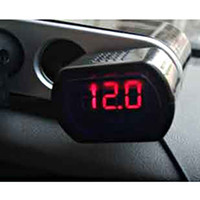 Wholesale Auto Car V Voltmeter Red Digital LED VOLTAGE GAUGE Volt Meter Measure Tool