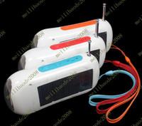 Other solar radio flashlight - 4pcs D44 Solar Charger Flashlight LED FM Radio mAh USB NEW