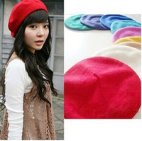 Wholesale Brand Fashion Wool Warm Women Beret Beanie Hat Cap Hot