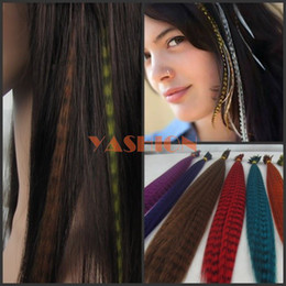 Wholesale Grizzly Synthetic Feather Hair Extension Brown Color inch g s s colors available