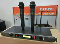 Wholesale 2pcs UHF wireless microphone system UR2 set microphone wireless mic
