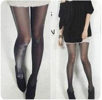 Ankle Pantyhose / Tights Women Black Shiny Pantyhose Glitter Stockings Womens Glossy Tights