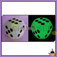 Wholesale hot Noctilucent Dice Cubes Side mm Night Light luminous Toy Fun Board Game Night Bar KTV Entertainment Game Dice