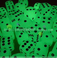 Wholesale Noctilucent Dice Cubes Side mm Night Light luminous party Toy Fun Board Game Night Bar KTV Entertainment Game Dice