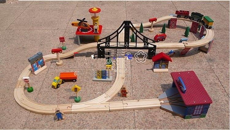 how to build wooden train tracks