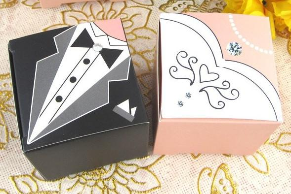 Wedding Cake Boxes Square Boxes Wedding Bride And Groom Favor ...