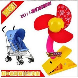 Wholesale 4 Pieces New High Quality Mini Baby colour Stroller Jogger Safety Clip on Fan kid baby gift toy