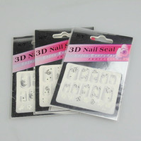 Wholesale 30PCS New Fancy Nail Art D Sticker Decal White amp Silvery Flowers D Nail Sticker D Nail Patch