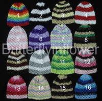 Wholesale crochet beanies baby hat waffle hat kids warm hat new style good quality