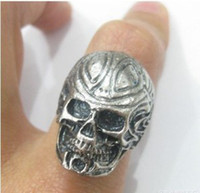 Cluster Rings indian head rings - vintage Silver skull ring ancient skeleton head ancient silver ring Unisex Ring Jewelry DW