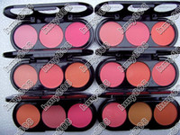 Powder Blush   Hot BRAND NEW MAKE-UP 3 COLOR ROUGE COLOR Blush 24G(16pcs lot)drop shipping+free